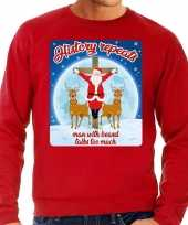 Foute kerstborrel trui kersttrui history repeats rood heren