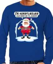 Foute kerstborrel trui kersttrui kerstliedjes zijn om te janken heren 10175253