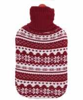 Foute kerstkruik rood witte sneeuwvlokken kersttrui hoes