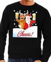 Foute kersttrui cheers dronken kerstman rudolf heren 10129098
