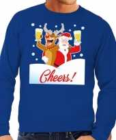 Foute kersttrui cheers dronken kerstman rudolf heren 10130530
