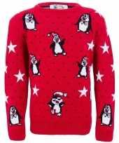 Foute kinder kersttrui pinguins