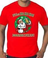 Foute plus size fout kers zuipende kerstman niks ho ho ho doordrinken rood heren kersttrui