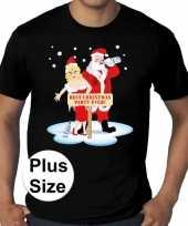 Foute plus size fout kerstborrel shirt kerst best christmas party ever zwart heren kersttrui