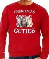 Foute rode kersttrui kerstkleding christmas cuties heren
