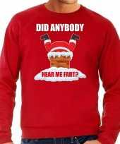 Foute rode kersttrui kerstkleding did anybody hear my fart heren grote maten