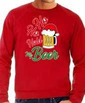 Foute rode kersttrui kerstkleding ho ho hold my beer heren grote maten