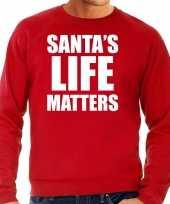 Foute rode kersttrui kerstkleding santas life matters heren