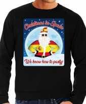 Foute spanje kerstborrel trui kersttrui christmas spain zwart heren