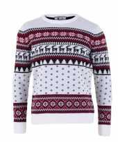 Foute witte kersttrui volwassenen nordic print