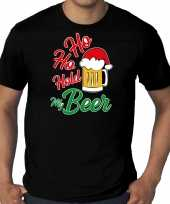 Foute zwart kers kerstkleding ho ho hold my beer heren grote maten kersttrui
