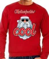 Grote maat foute kerstborrel trui kersttrui motherfucking cool stoere santa rood heren
