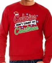 Grote maten foute kerstborrel trui kersttrui calories don t count at christmas rood heren